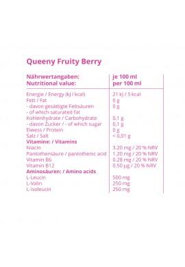 GYMQUEEN QUEENY Zero + Energy + BCAA Drink 250ml.