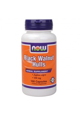 NOW Black Walnut Hulls 500mg. 100caps.