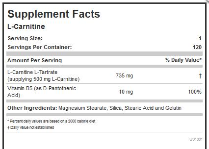 L-CARNITINE 500 mg Capsules
