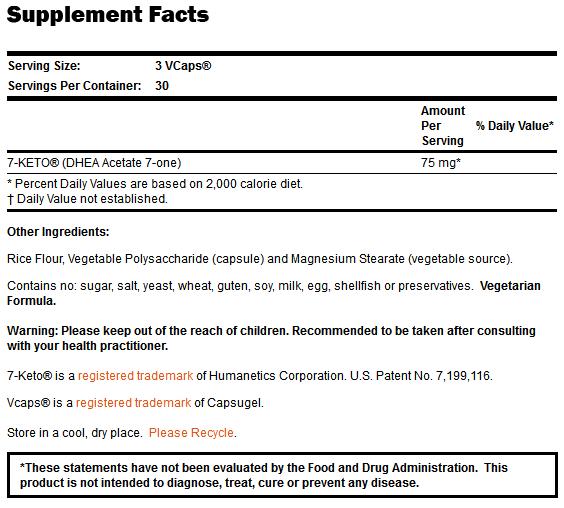 7-KETO 25 mg - 90 VCaps