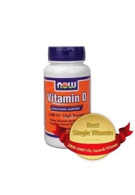 NOW Витамин D-1000 IU 90softgels