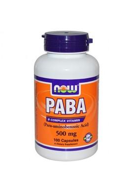 NOW PABA 500 mg - 100 капсули