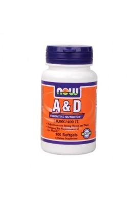 NOW Витамин A & D 10000/400 IU - 100 дражета