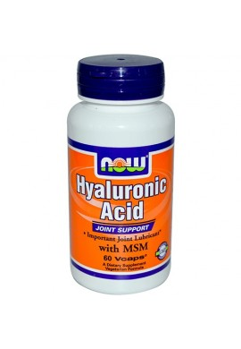 NOW Hyaluronic Acid with MSM - 60 капсули