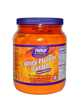 NOW Whey Protein Isolate неовкусен - 544 g