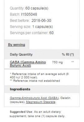 Prozis Foods GABA 750 mg 60 caps